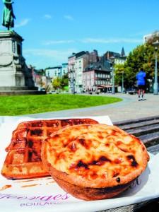 ベルギーの伝統的なデザート、ライスプディングのタルト。ミルクの優しい風味にどこか懐かしい気持ちに。